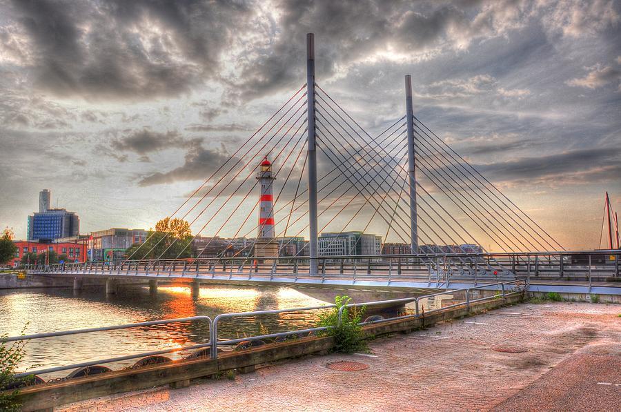 Malmo Digital Art - Bridge by Barry R Jones Jr