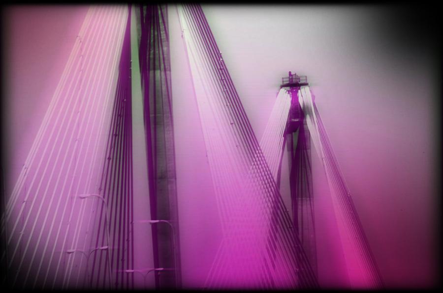 Bridge Photograph - Bridge Cables One by Marty Koch