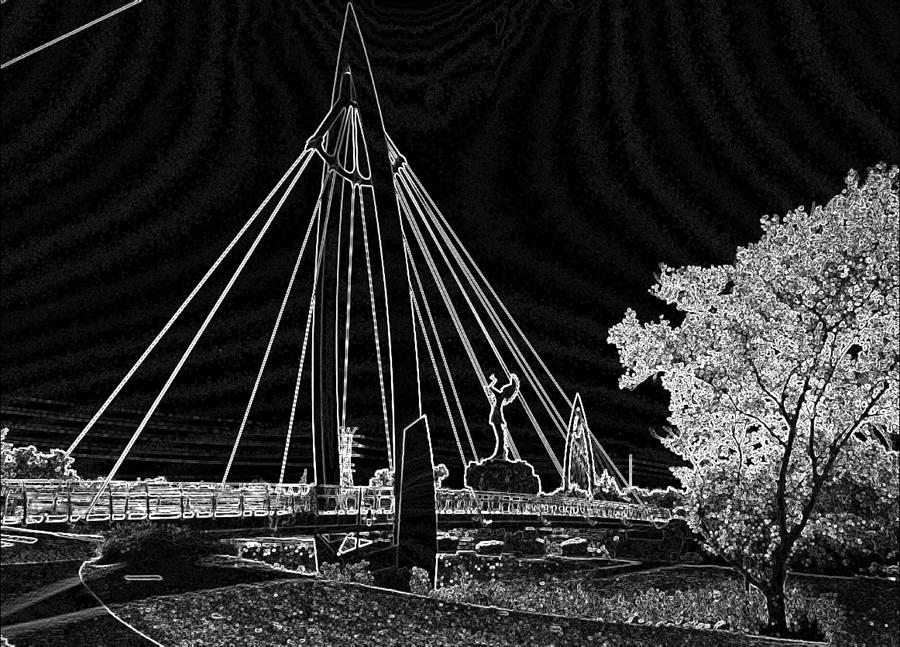 Gallery Art Photograph - Bridge Electrified by David Alvarez