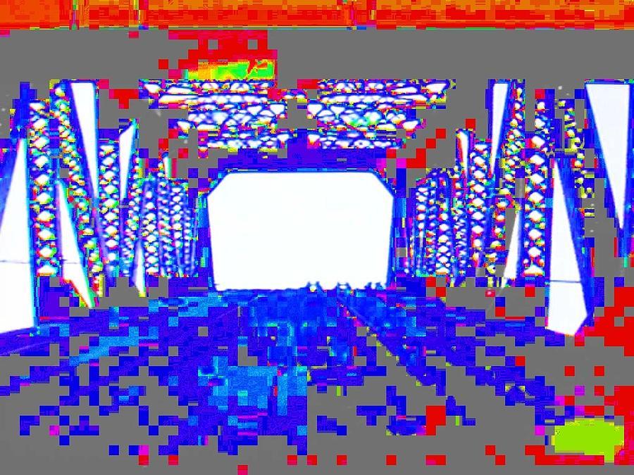 Bridges Photograph - Bridge In Blue by Val Oconnor