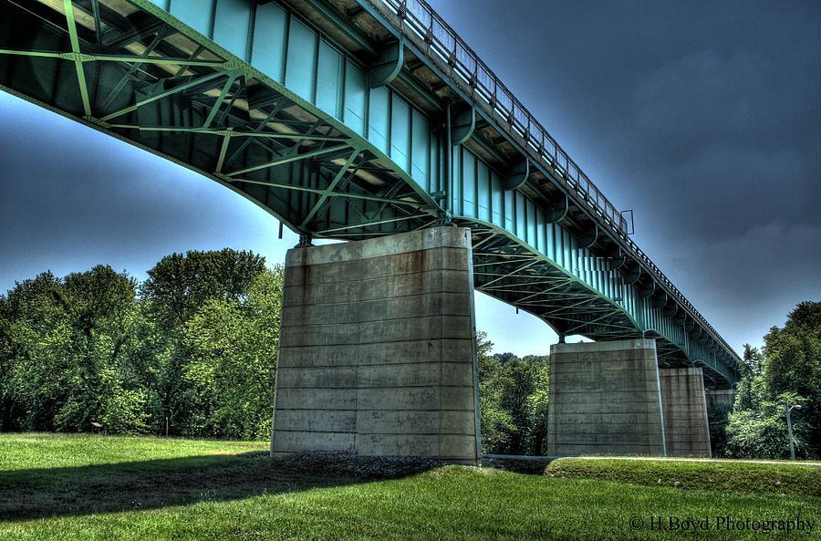 Bridge Photograph - Bridge Of Blue by Heather  Boyd