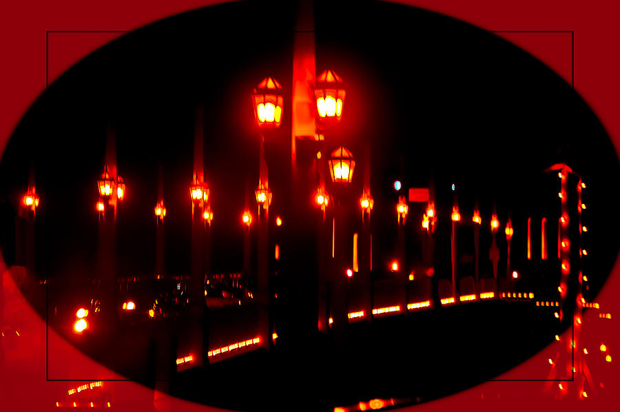 Bridge Photograph - Bridge Of Lions Alit by DigiArt Diaries by Vicky B Fuller