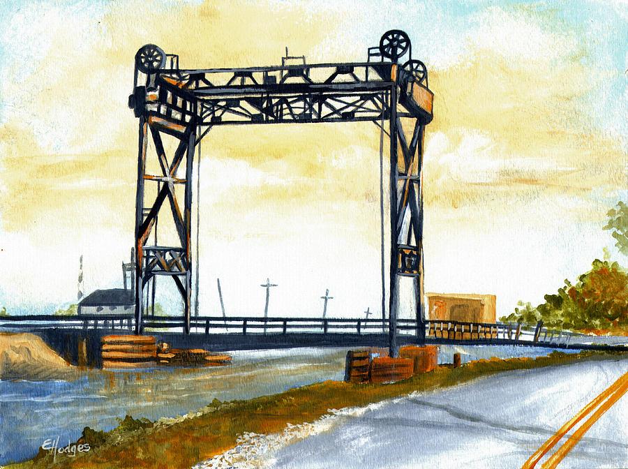 Bridge Painting - Bridge Over The Bayou by Elaine Hodges