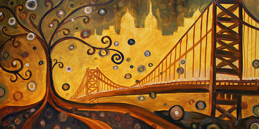 Philadelphia Painting - Bridge by Sara Coolidge