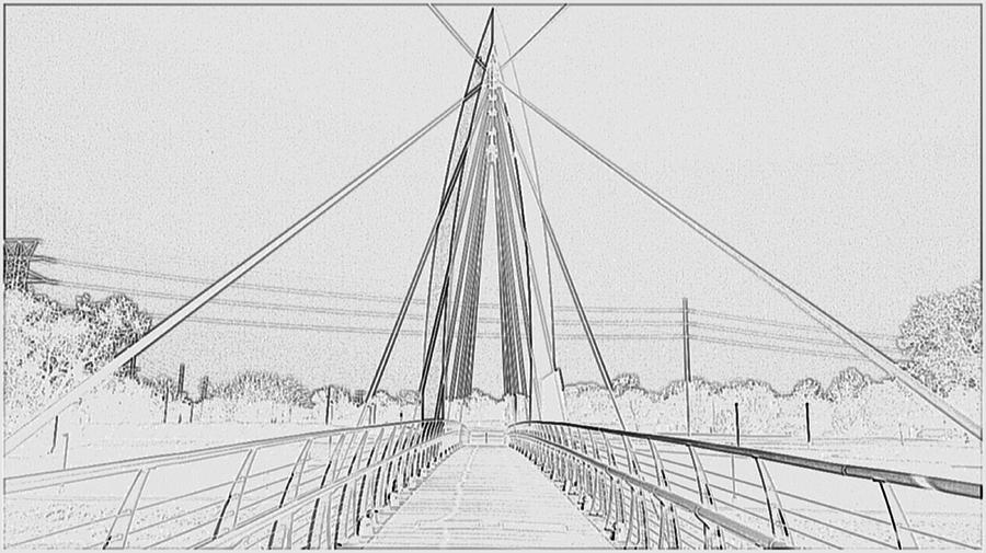 Artist Photograph - Bridge Sketch by David Alvarez