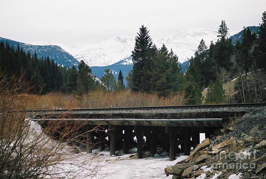 Rail Road Photograph - Bridge The Gap by Christopher Griffin