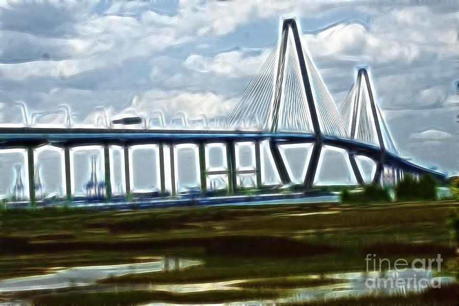 Bridge Photograph - Bridge To Charleston by Darleen Stry
