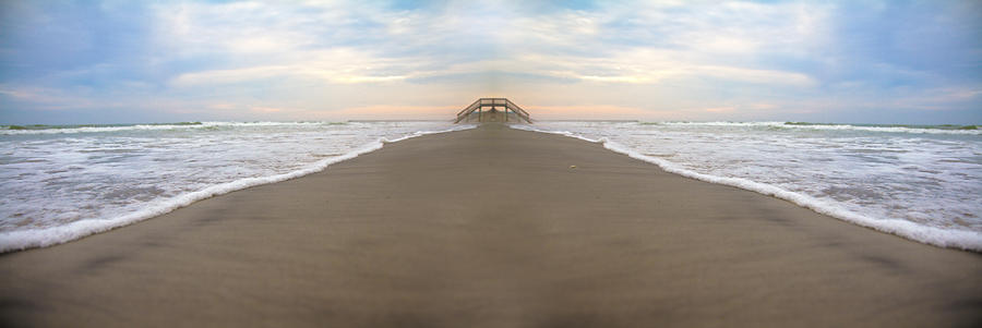 Beach Photograph - Bridge To Parallel Universes  by Betsy Knapp