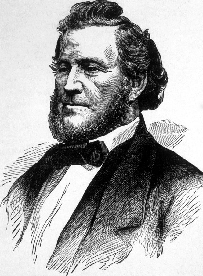Brigham Young 1801 1877 Engraving Photograph By Everett