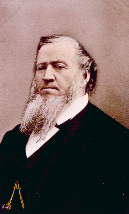 History Photograph - Brigham Young 1801-1877, Hand Colored by Everett