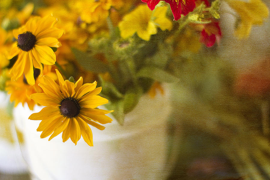 Yellow Photograph - Bright And Sunny by Rebecca Cozart