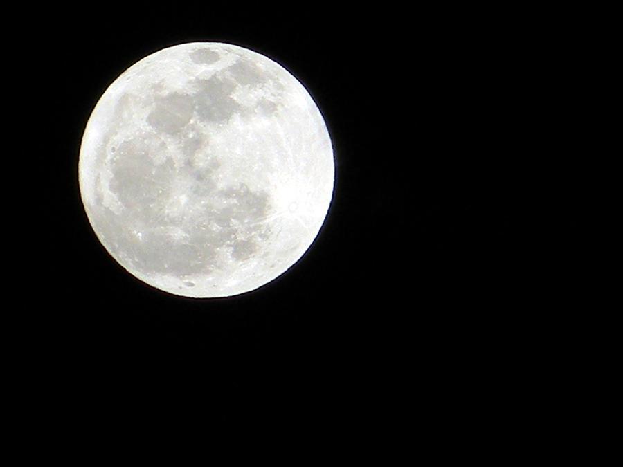 Warren Moon >> Bright Full Moon Photograph by Warren Thompson