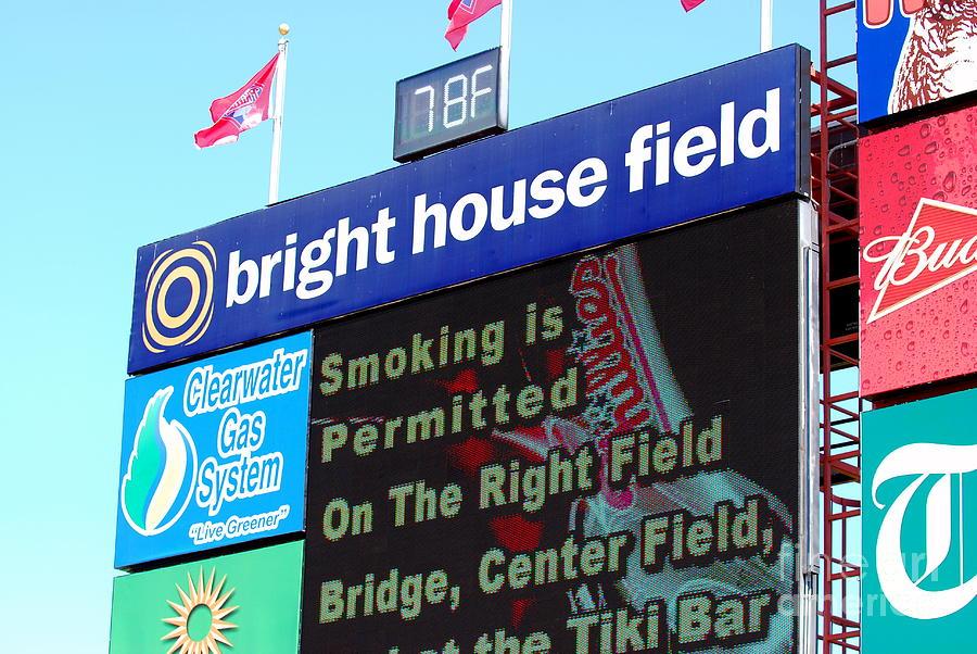 Philadelphia Phillies Photograph - Bright House Field by Carol Christopher