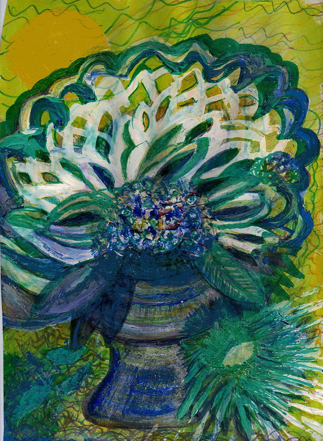 Bright Painting - Brightness Bouquet From My Imagination by Anne-Elizabeth Whiteway