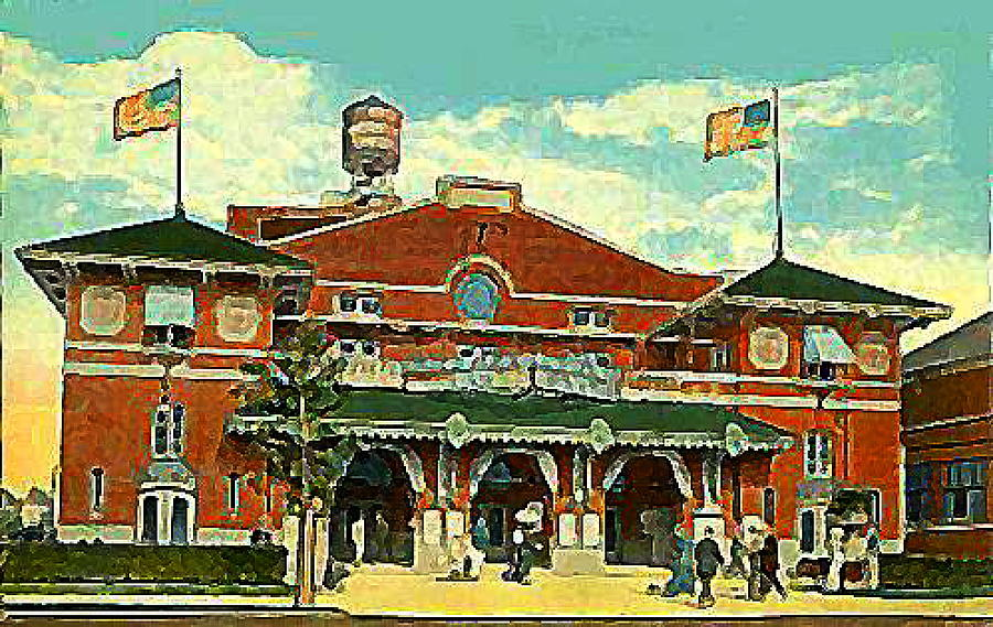 Theaters Painting - Brighton Beach Theatre At Coney Island In 1910 by Dwight Goss