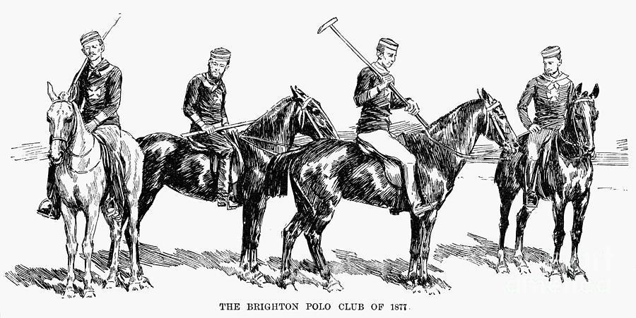 1877 Photograph - Brighton Polo Club, 1877 by Granger