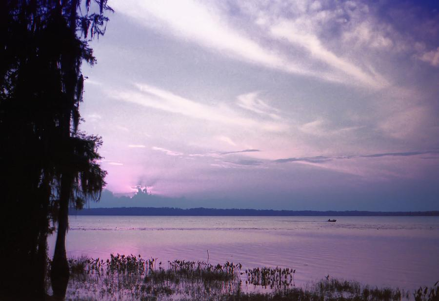 Blue Photograph - Brilliant Everglades Sunset by Lynnette Johns