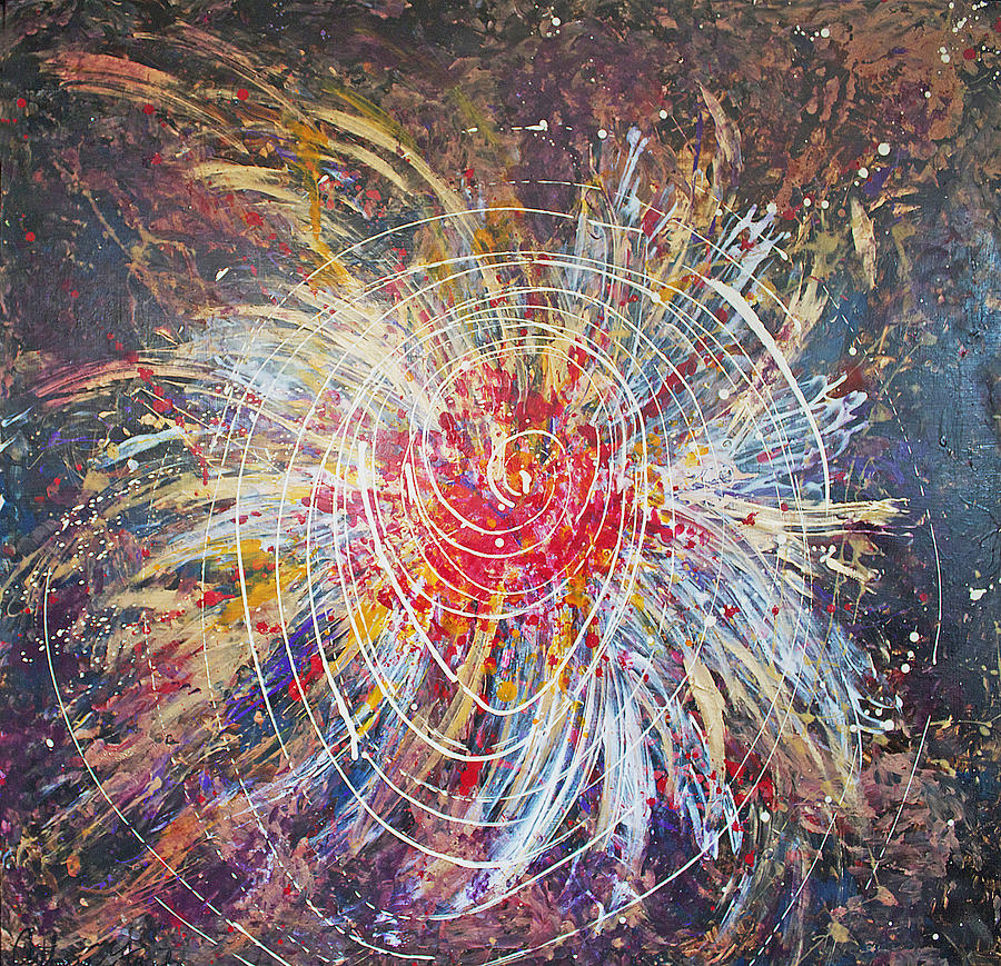 Energy Painting - Bringing Up The Energy  by Catherine Foster