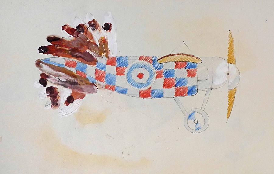 Airplane Painting - British Bird Plane by Virginia Stuart