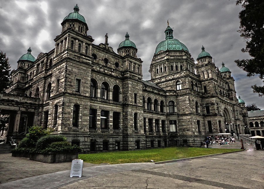 A Victoria Island Photograph - British Columbia Parliament Buildings by Gregory Dyer
