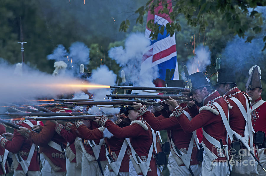 War Of 1812 Photograph - British Night Battle by JT Lewis