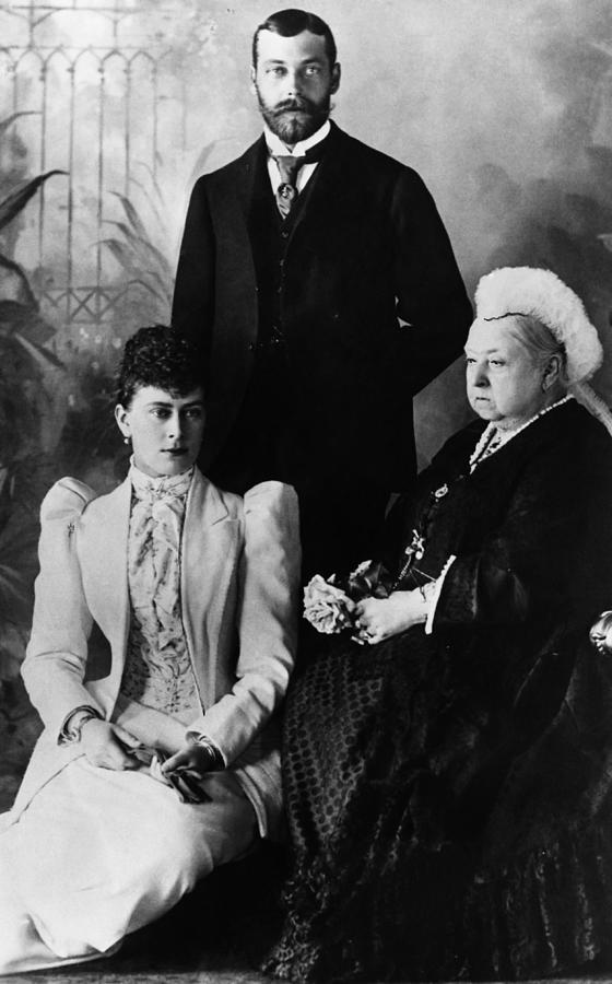 1890s Photograph - British Royal Family. Mary, Duchess by Everett
