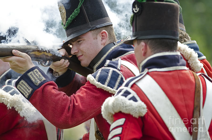 War Of 1812 Photograph - British Soldier Shooting by JT Lewis