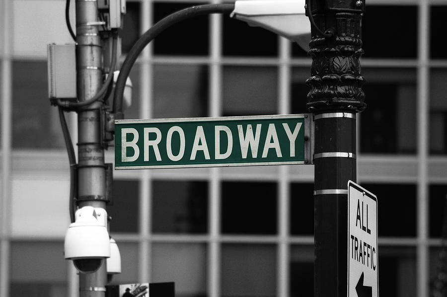Broadway Photograph - Broadway Sign New York by Magdalena Warmuz-Dent