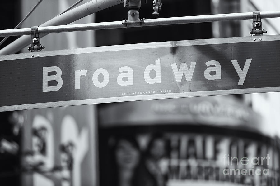 Clarence Holmes Photograph - Broadway Street Sign II by Clarence Holmes