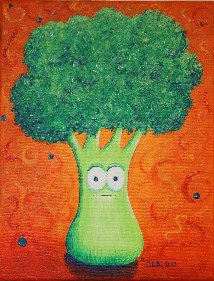 Brocolli Painting - Brocolli by Jennifer Alvarez