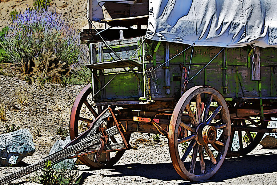 Wagon Photograph - Broken Down by Phyllis Denton