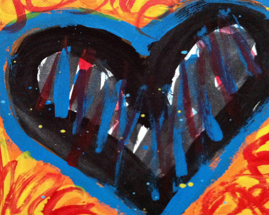 Power Painting - Broken Heart And Power Of Love Collide by Bethany Stanko