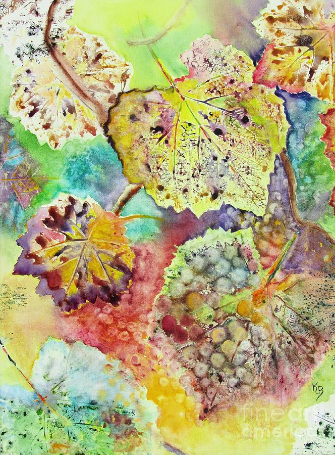 Vines Painting - Broken Leaf by Karen Fleschler