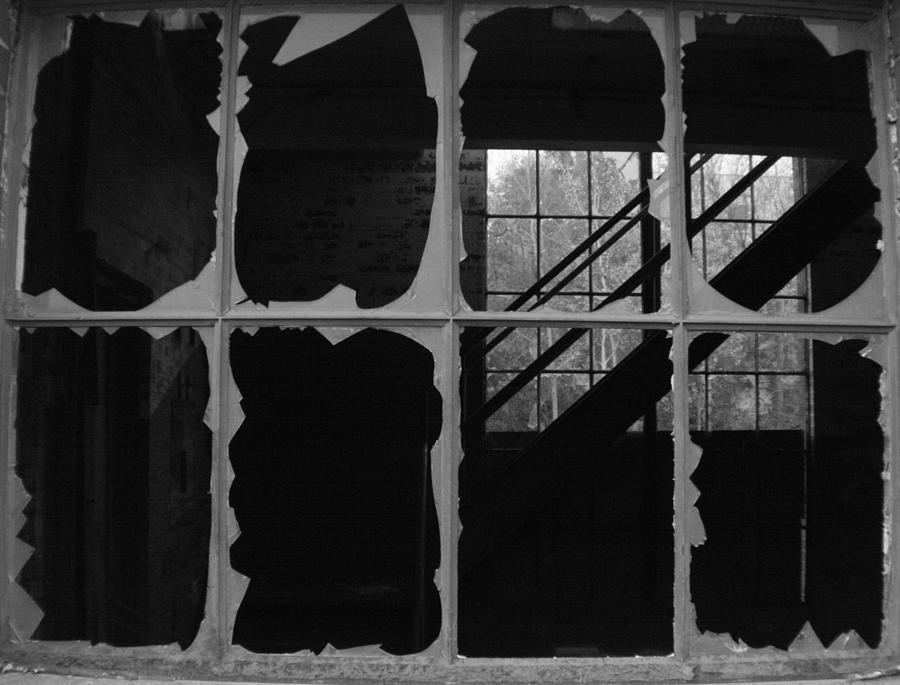 Broken Glass Photograph - Broken On One Side by Artist Orange