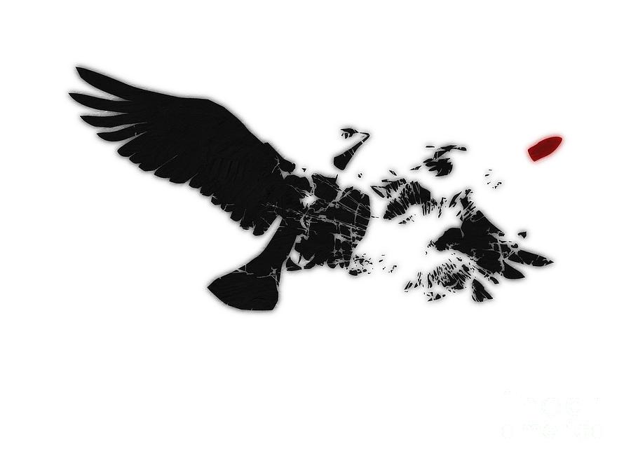 Banksy Digital Art - Broken Peace by Pixel Chimp
