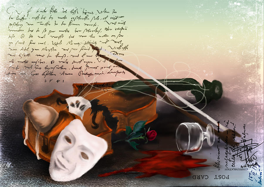 Violin Digital Art - Broken Symphony by Arin Rajawali