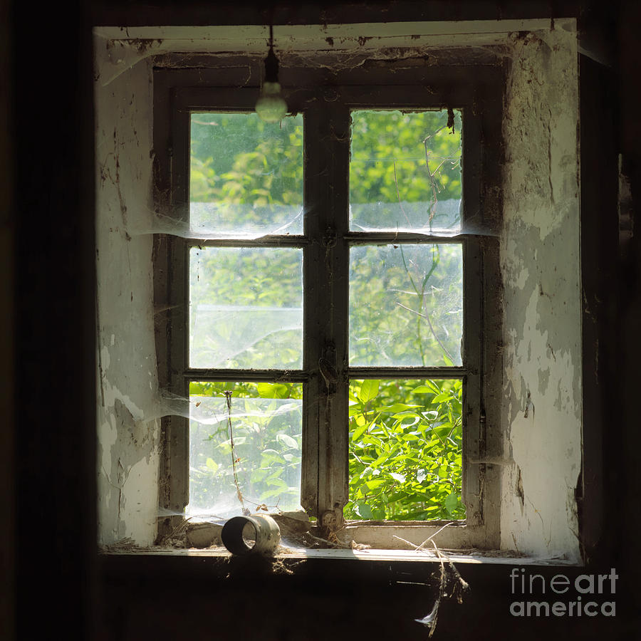 Windows Photograph - Broken Window. by Bernard Jaubert