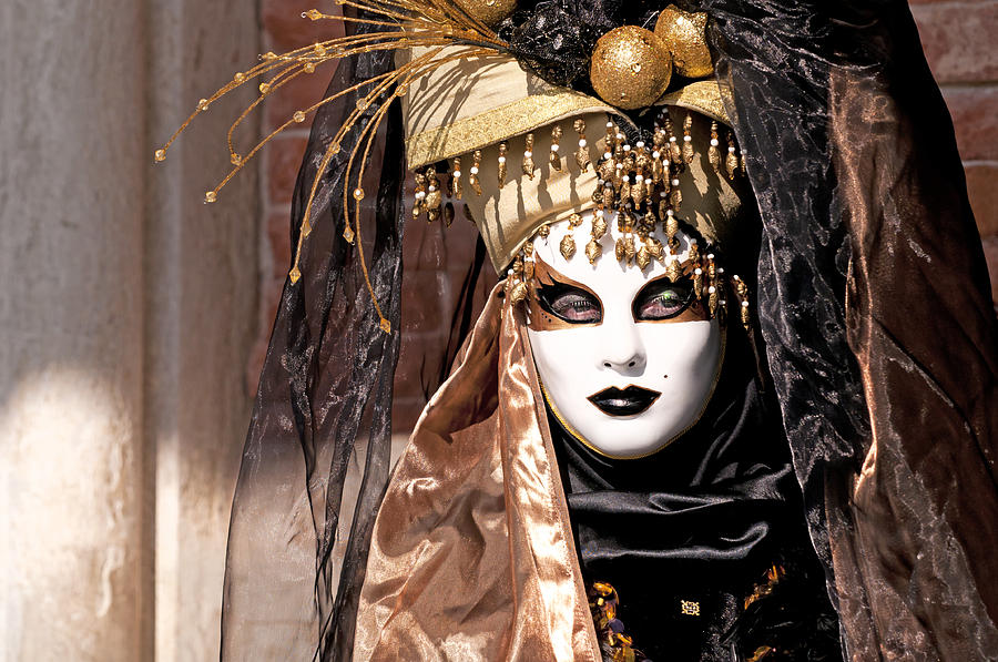 Venice Photograph - Bronce Mask by Karin Haas