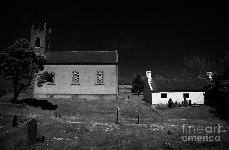 Bronte Photograph - Bronte Homeland Interpretive Centre Drumballyroney Church County Down Ireland by Joe Fox