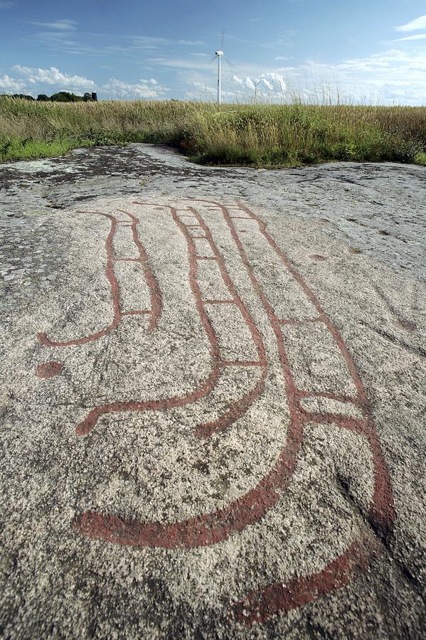 Petroglyph Photograph - Bronze Age Petroglyph by Bjorn Svensson