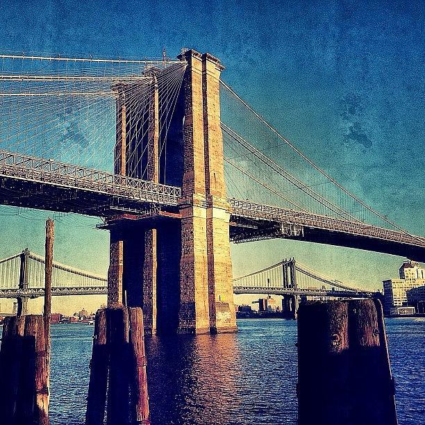 Bridge Photograph - Brooklyn Bridge - New York by Joel Lopez