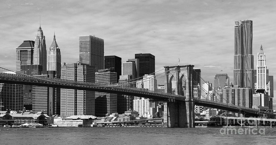 New Photograph - Brooklyn Bridge And Skyline by Holger Ostwald