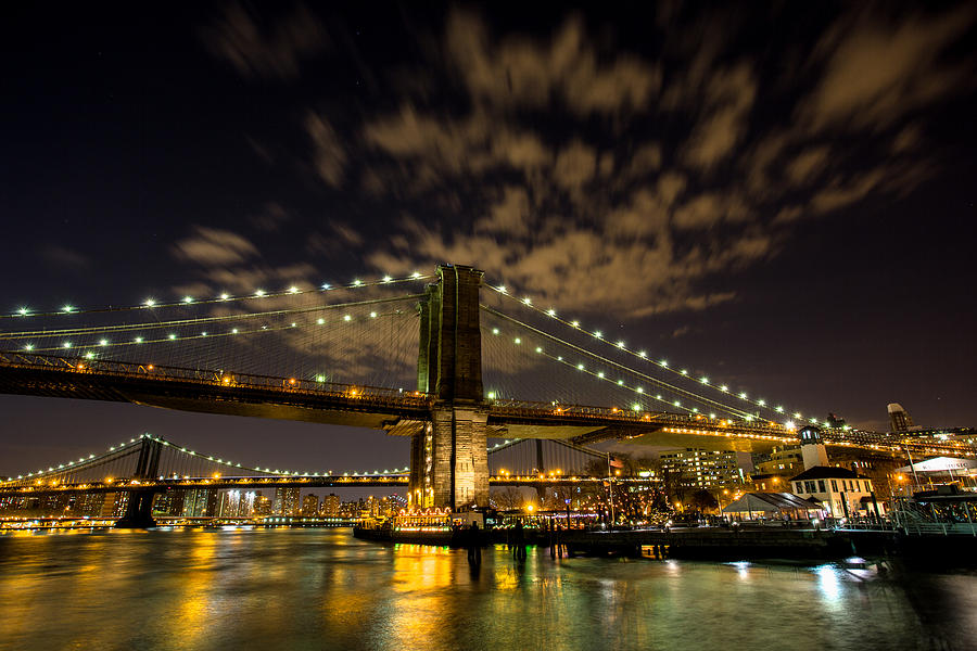 Beer Keg Photograph - Brooklyn Bridge And Waterfront by John Dryzga