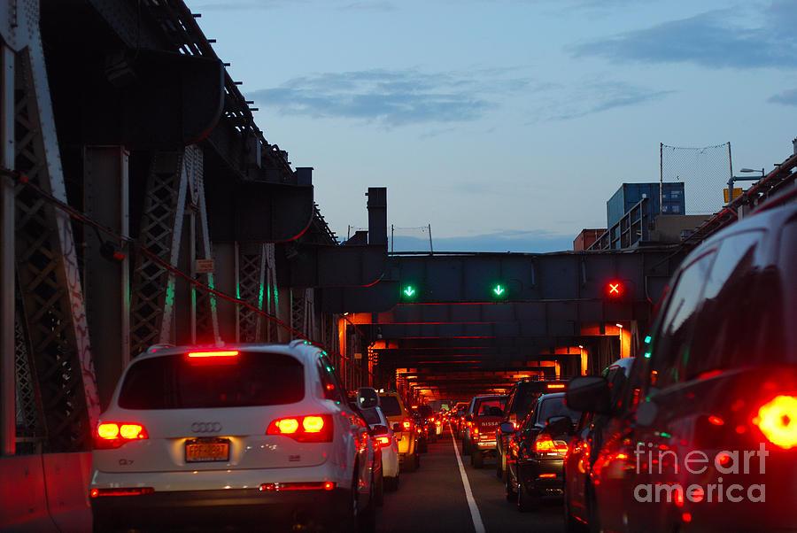 Brooklyn Bridge Photograph - Brooklyn Bridge At Night by Andrea Simon
