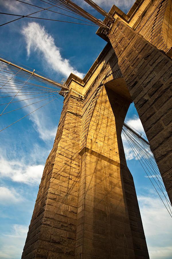Brooklyn Photograph - Brooklyn Bridge End Of The Day by Patrick  Flynn