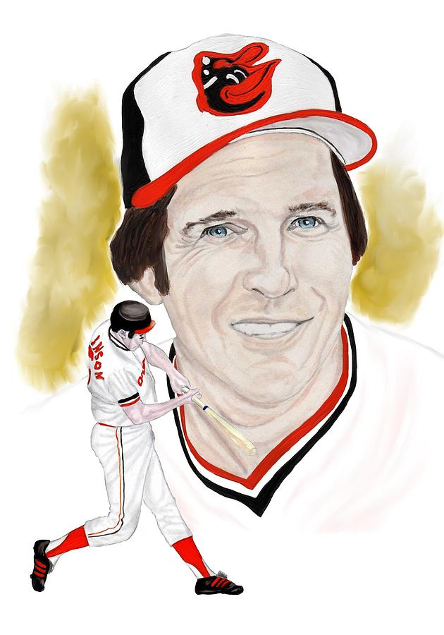 Brooks Robinson Painting - Brooks Robinson by Steve Ramer