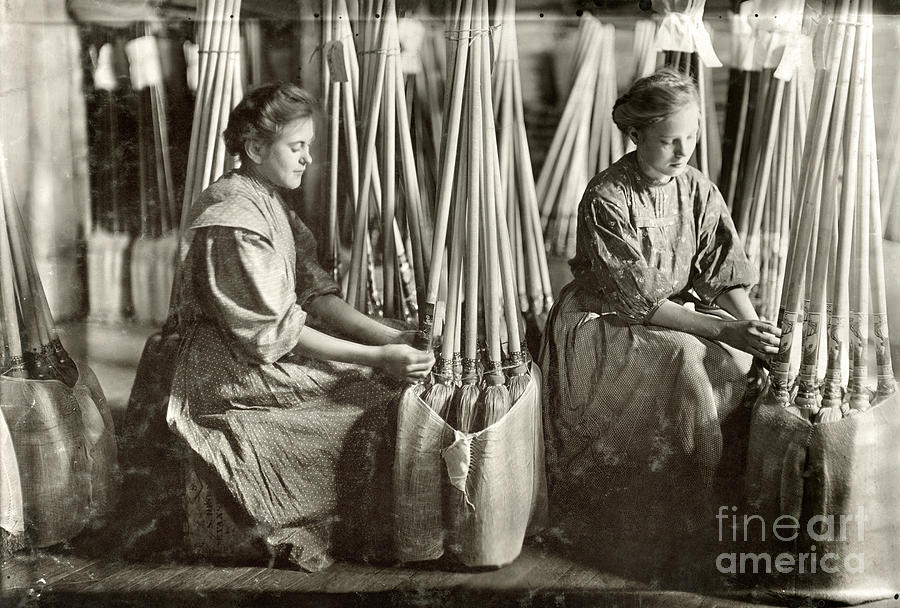 1908 Photograph - Broom Manufacture, 1908 by Granger