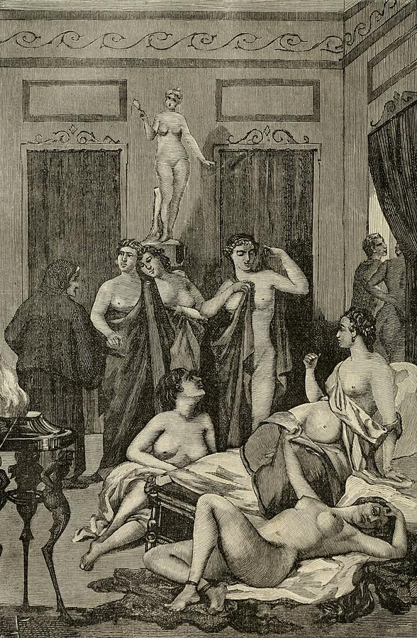 History Photograph - Brothel In Ancient Greece. 19th Century by Everett