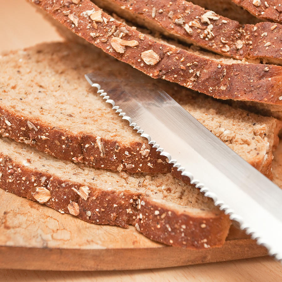Baked Photograph - Brown Bread by Tom Gowanlock