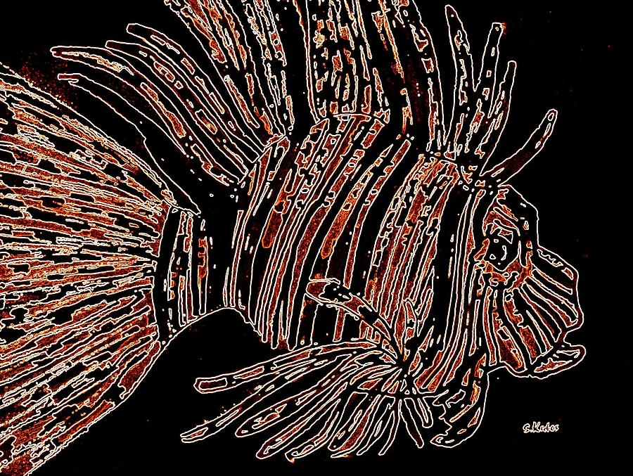 Brown Lion Fish by Susan Kubes